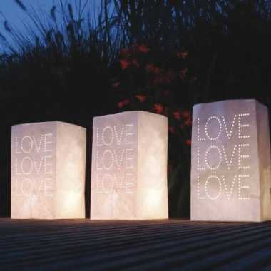 10x candle bags wit met love sjabloon