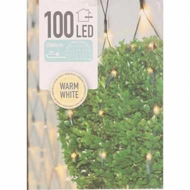 2x buxus kerstverlichting warm wit binnen/buiten 90 x 90 cm