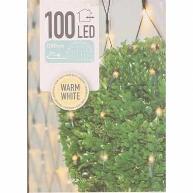 4x buxus kerstverlichting warm wit binnen/buiten 90 x 90 cm