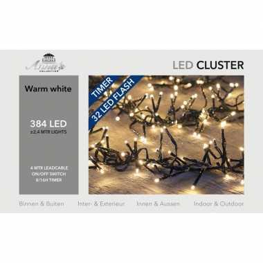 Clusterverlichting knipper functie en timer 384 warm witte leds
