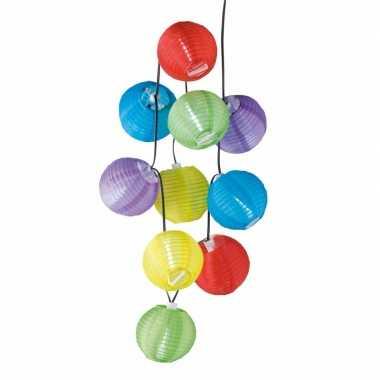 Feestelijke gekleurde solar lampjes 240 cm