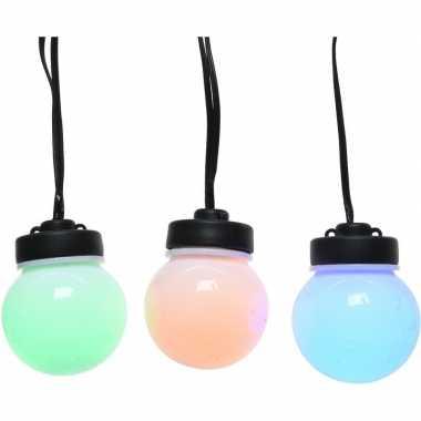 Gekleurde party lichtjes lichtsnoeren 12,5 meter voor buiten