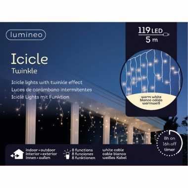 Ijspegel verlichting warm wit buiten 119 lampjes