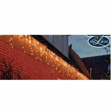 Ijspegelverlichting lichtsnoeren met 600 warm witte lampjes