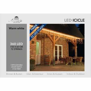 Ijspegelverlichting met timer en knipper functie 360 lampjes