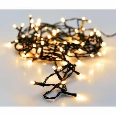 Kerst led-verlichting op batterij 96 lampjes warm wit buiten 7 m