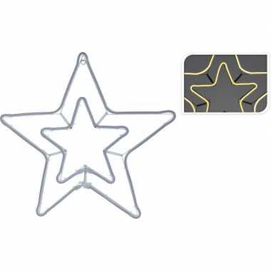 Kerst slangverlichting dubbele ster wit 57 cm