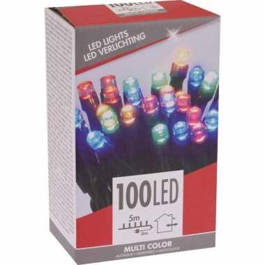 Kerstverlichting budget gekleurd buiten 100 lampjes
