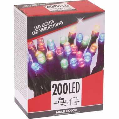 Kerstverlichting budget gekleurd buiten 200 lampjes
