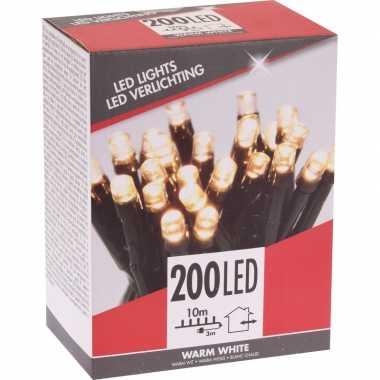 Kerstverlichting budget warm wit buiten 200 lampjes