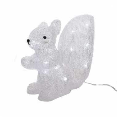 Kerstverlichting eekhoorn met led licht 28 cm