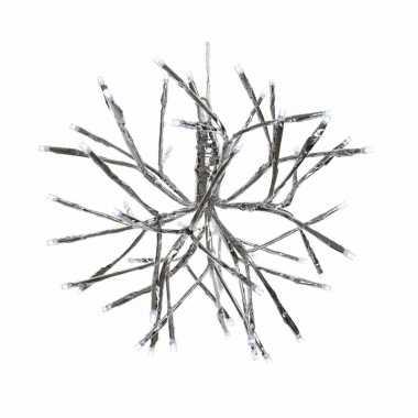 Kerstverlichting led takkenbol koel wit binnen/buiten 25 cm