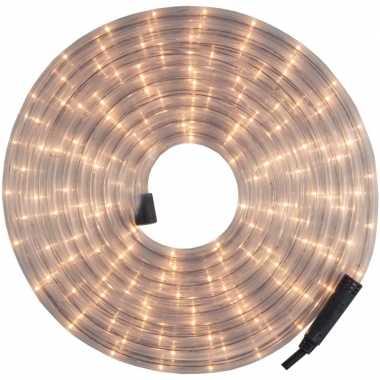 Kerstverlichting lichtsnoer/lichtslang wit 24 meter voor buiten