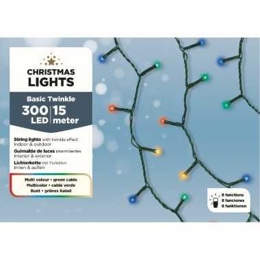Kerstverlichting twinkel gekleurd met afstandsbediening 300 lampjes