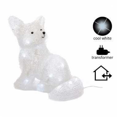 Kerstverlichting vos met led licht 31 cm