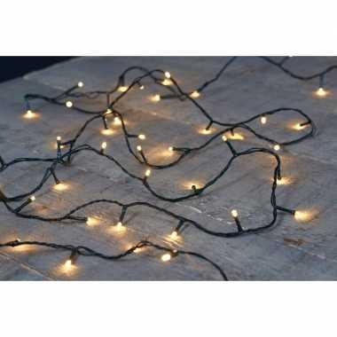 Kerstverlichting warm wit binnen/buiten 180 lampjes 18 m