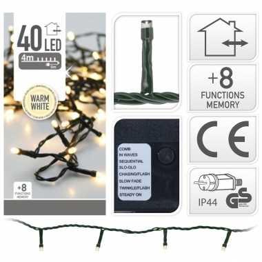 Kerstverlichting warm wit buiten 40 lampjes 400 cm