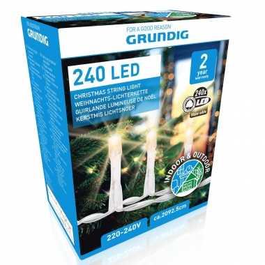 Kerstverlichting warm wit buiten lichtsnoeren 240 led lampjes