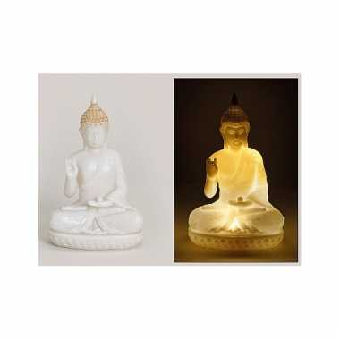 tuin beeld boeddha 23 cm met verlichting