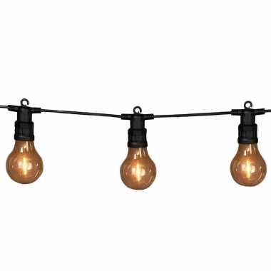 Tuinverlichting lichtsnoer met lampjes/bollampjes klassiek wit 10 meter