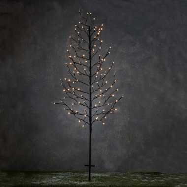 Verlichte figuren zwarte lichtboom met 118 led lichtjes 150 cm