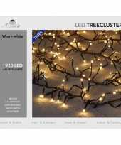 1x clusterverlichting met timer en dimmer 1920 leds warm wit 25 m
