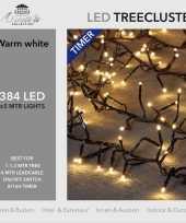 1x clusterverlichting met timer en dimmer 384 leds warm wit 5 m