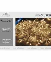 1x clusterverlichting timer 384 warm witte leds