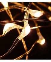 2x koperen kerstverlichting met timer 20 led lampjes 1 meter