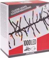 Clusterverlichting budget gekleurd buiten 1000 lampjes