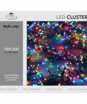 Clusterverlichting met timer 768 lampjes gekleurd 4 5 m