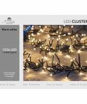 Clusterverlichting met timer en dimmer 1536 leds warm wit 9 m