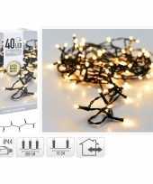 Kerstverlichting extra warm wit buiten 40 lampjes